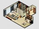客餐厅装修效果图 88�O隽永的家居风格_维意定制家具商城