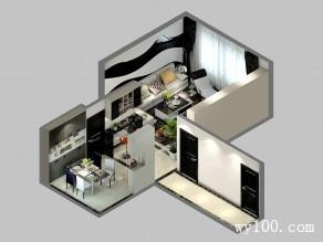 客餐厅装修效果图 4�O简约和舒适空间_维意定制家具商城