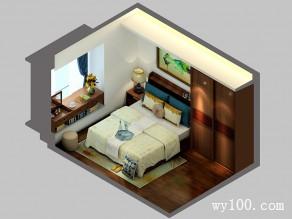 氛围沉稳大气卧室设计效果图_维意定制家具商城