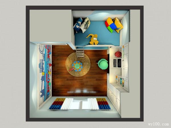 上下床设计儿童房效果图_维意定制家具商城
