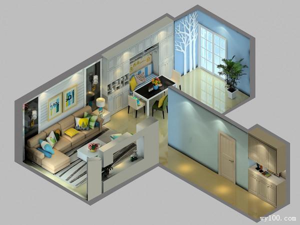 完美利用空间客餐厅效果图_维意定制家具商城