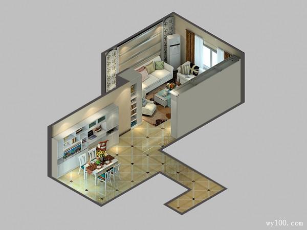 客餐厅装修效果图 93�O增加储物功能_维意定制家具商城