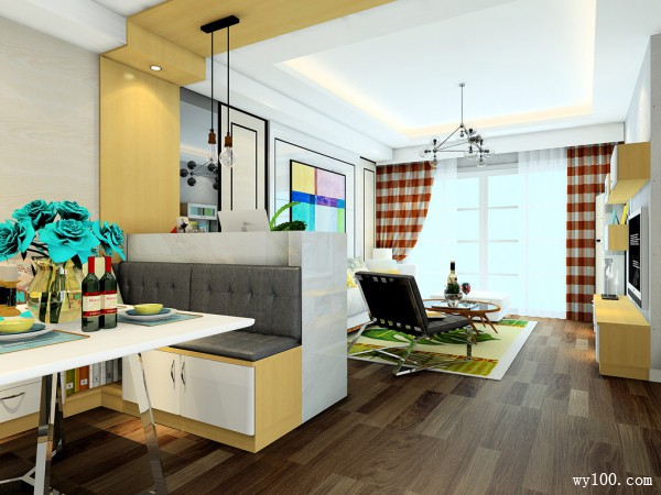 客餐厅装修效果图 28�O增加空间使用率_维意定制家具商城