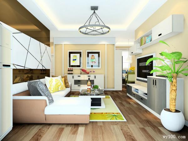 客餐厅装修效果图 33�O让空间更加宽敞_维意定制家具商城