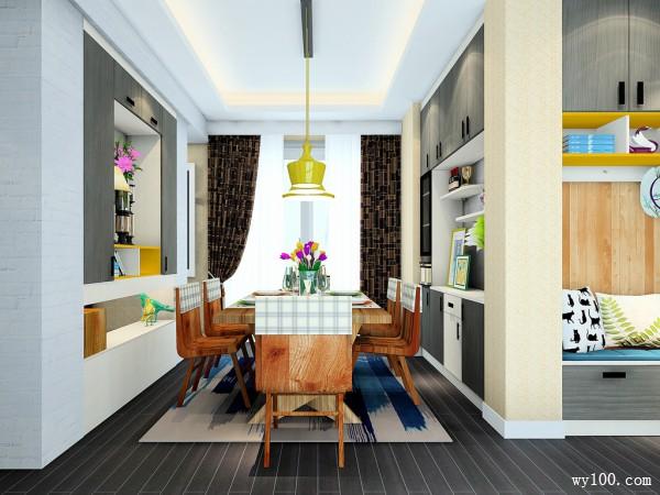 客餐厅装修效果图 38�O房屋结构分割明显_维意定制家具商城