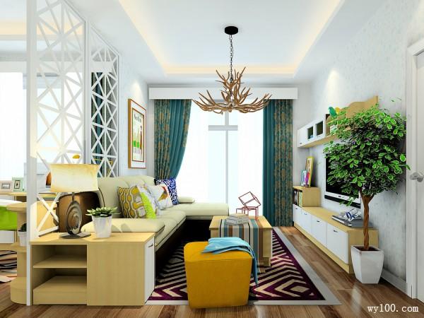 客餐厅装修效果图 37�O时尚的电视柜设计_维意定制家具商城