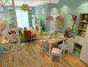 现代简约客餐厅 原木色柜身配清新色调凸显活泼氛围_维意定制家具商城