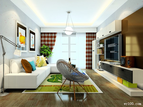 客餐厅装修效果图 34�O整体空间简洁明了_维意定制家具商城