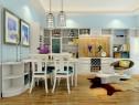 田园带英伦风格设计客餐厅 不仅美观且大方_维意定制家具商城