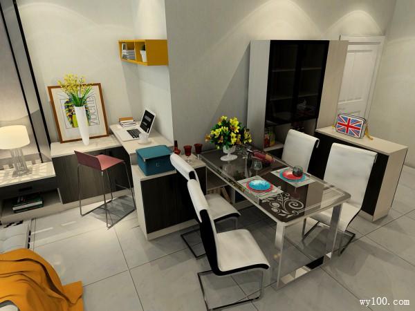现代简约客餐厅 储存柜组合的鞋柜方便实用_维意定制家具商城