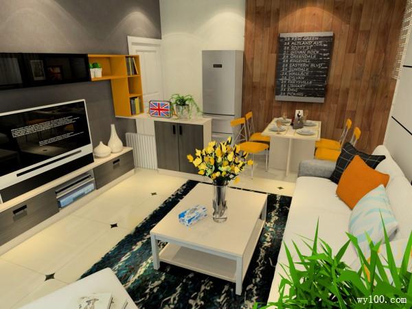欧式客餐厅 20平尽显浪漫气息_维意定制家具商城
