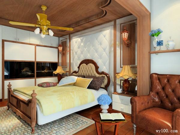 复古的美式乡村风卧室 柜体搭配经典实用简洁_维意定制家具商城