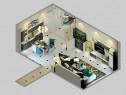 客餐厅装修效果图 28�O整体空间明亮简洁_维意定制家具商城