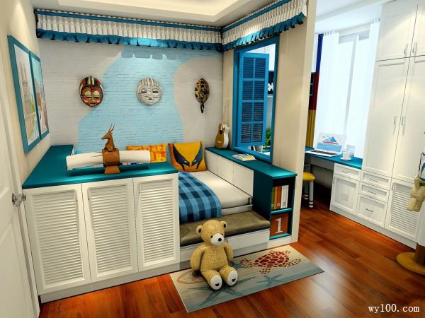 定制床儿童房装修效果图