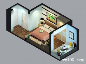 卧室装修效果图 27�O合理柜体布局显大气_维意定制家具商城