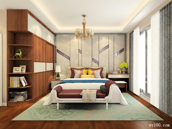 卧室装修效果图 21�O到顶的掩门衣柜实用_维意定制家具商城