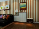 客餐厅装修效果图 75�O美式田园的风格_维意定制家具商城