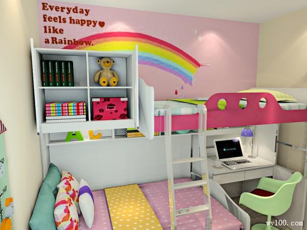 儿童房装修效果图 6�O整体清新自然舒适_维意定制家具商城