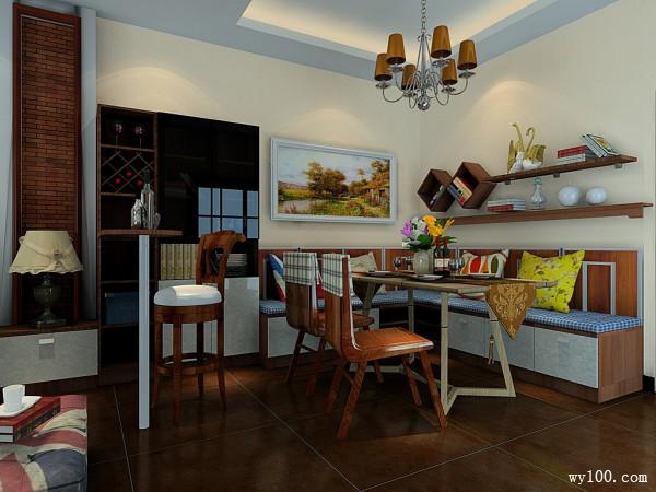 客餐厅装修效果图 62�O美式的田园气息_维意定制家具商城