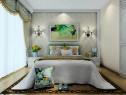 卧室设计图 13�O绿墙漆突出白色柜体_维意定制家具商城