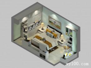 卧室设计图 17�O平面布置合理_维意定制家具商城