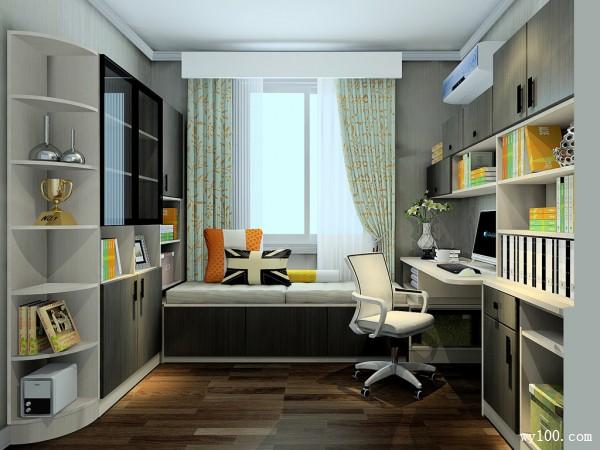 书房装修效果图 7�O打破空间的沉闷_维意定制家具商城