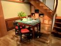 原木客餐厅效果图 51�O黄色墙体辅以米色沙发_维意定制家具商城