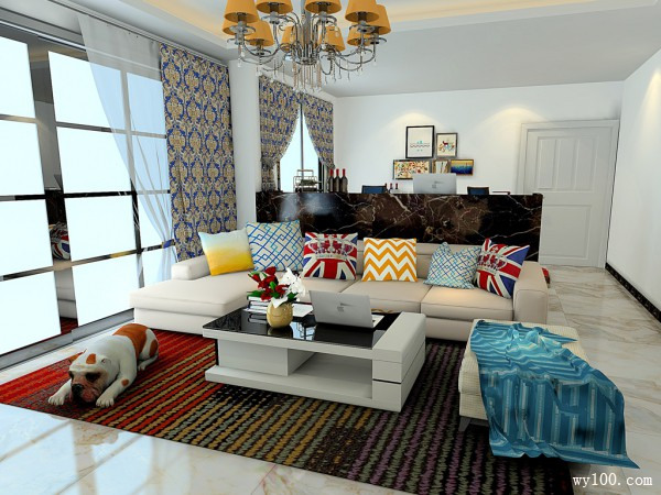 欧式客餐厅效果图 87�O豪华造型的设计_维意定制家具商城