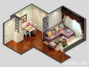 客餐厅装修效果图 46�O设计沉稳大气_维意定制家具商城