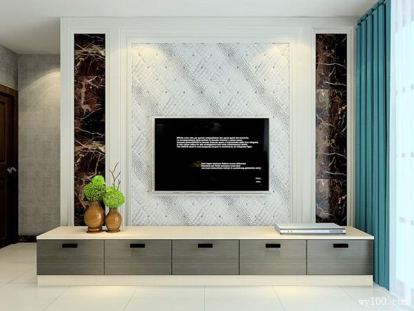客餐厅装修效果图 34�O显得时尚大方_维意定制家具商城