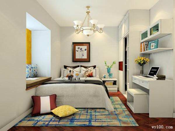 卧室装修效果图 13�O简约的床头柜造型_维意定制家具商城