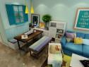 客餐厅装修效果图 23�O整个空间清新怡人_维意定制家具商城