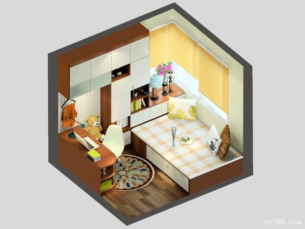 书房装修效果图  7�O充分体现出定制性_维意定制家具商城