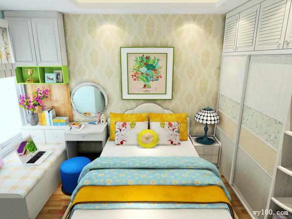 卧室装修效果图 16�O整体清新自然_维意定制家具商城