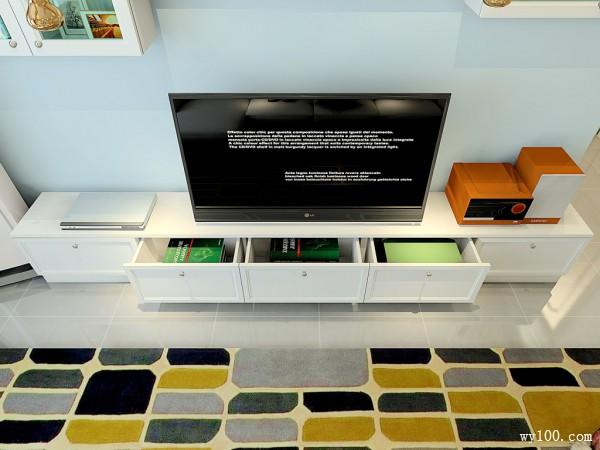 客餐厅装修效果图 59�O根据户型合理利用空间_维意定制家具商城