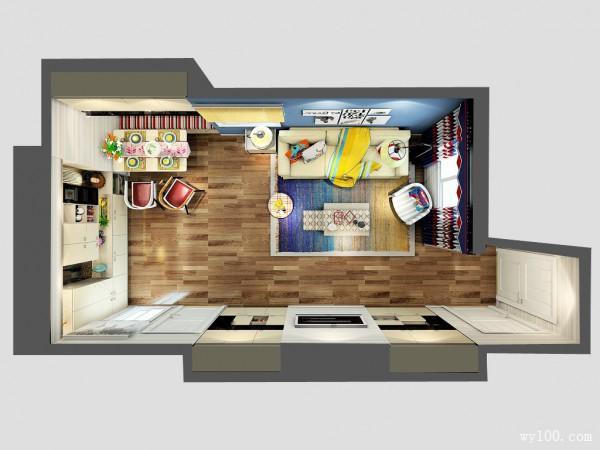客餐厅装修效果图 32�O嵌入式电视储物柜_维意定制家具商城