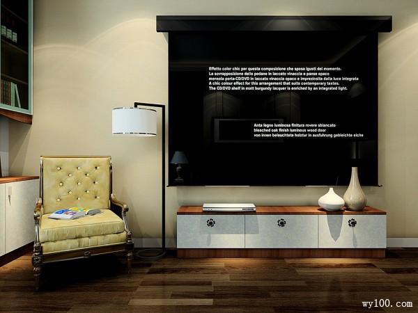 欧式电视柜卧室装修效果图