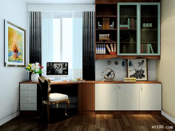 欧式书桌卧室装修效果图