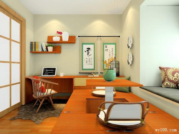 时尚书桌书房装修效果图