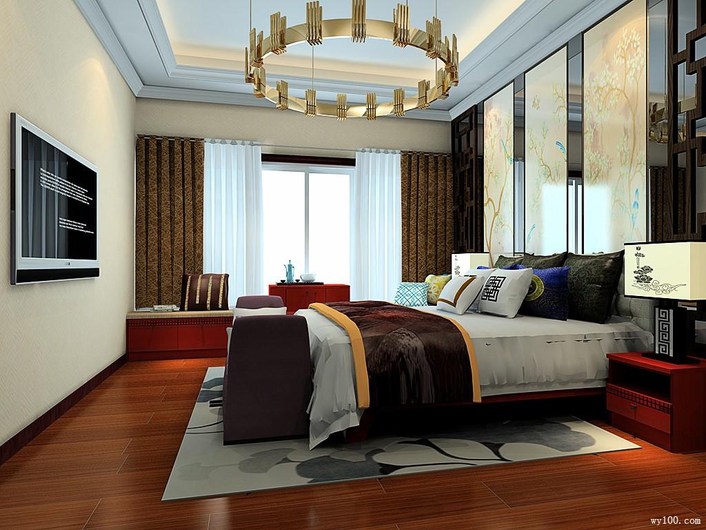 卧室装修效果图 33㎡窗户处设置矮柜图片