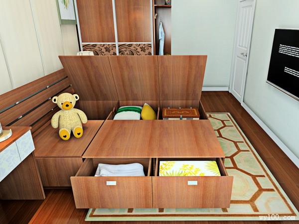 欧式定制床卧室装修效果图