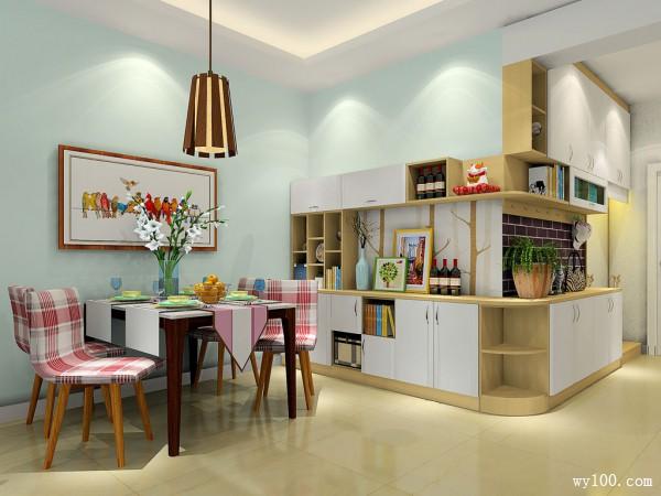 现代装饰柜客餐厅装修效果图