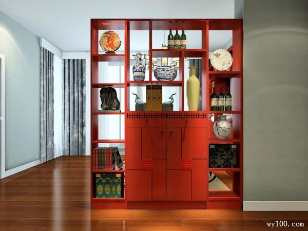 隔断柜书房装修效果图