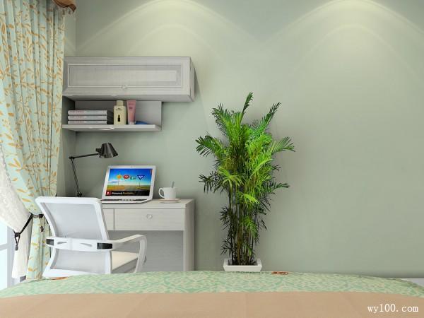 田园书桌卧室装修效果图