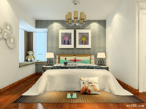 简约定制床卧室装修效果图
