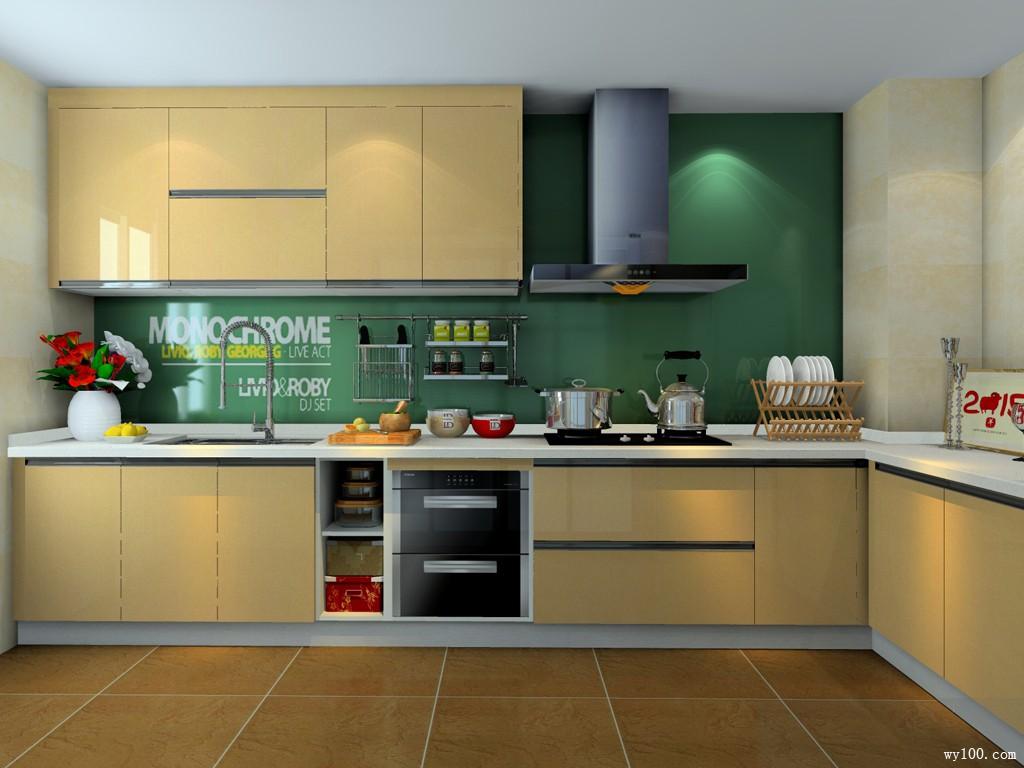 简约厨房效果图 8�O让厨房动起来_维意定制家具商城