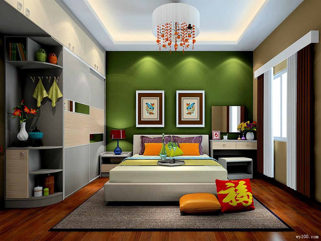 小空间卧室效果图 13�O温润精致_维意定制家具商城