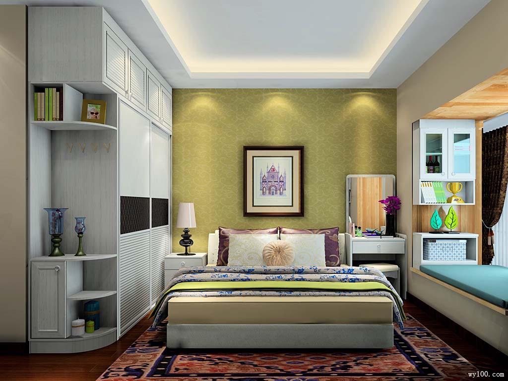 卧室装修效果图  14�O亮白清新_维意定制家具商城
