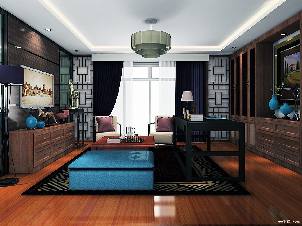 书柜设计图  23�O带有浓浓的中式气息_维意定制家具商城