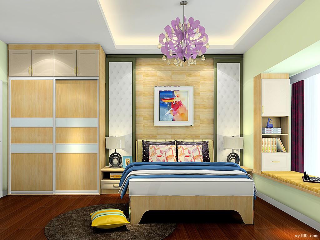 小清新卧室 10�O累了困了一觉到天明_维意定制家具商城
